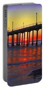 Surf City, U S A, Panorama, Huntington Beach, California Portable Battery Charger