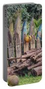 Surfboard Fence Hawaii Portable Battery Charger