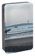 Surfing On Good Harbor Beach Gloucester Ma Portable Battery Charger