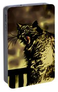 Surreal Cat Yawn Portable Battery Charger