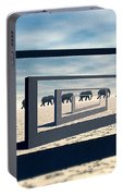 Surreal Elephant Desert Scene Portable Battery Charger