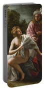 Susanna And The Elders Portable Battery Charger by Ottavio Mario Leoni