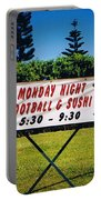 Sushi And Football In Hawaii Portable Battery Charger