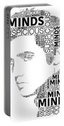 Suspicious Minds Elvis Wordart Portable Battery Charger