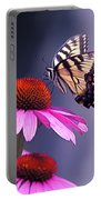 Swallowtail And Coneflower Portable Battery Charger