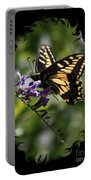 Swallowtail Butterfly 1 With Swirly Frame Portable Battery Charger