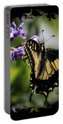 Swallowtail Butterfly 2 With Swirly Framing Portable Battery Charger