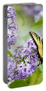 Swallowtail Butterfly On Lilacs Portable Battery Charger