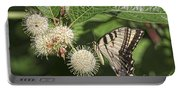 Swallowtail With Flowers Portable Battery Charger