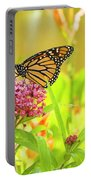 Swamp Milkweed And Monarch Portable Battery Charger