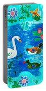 Swan And Two Ducks Portable Battery Charger