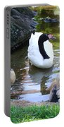 Swan And Wood Ducks Portable Battery Charger