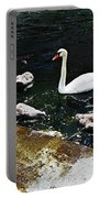 Swan Feather Portable Battery Charger