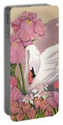 Swan In Pink Portable Battery Charger