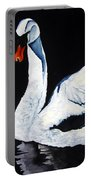 Swan In Shadows Portable Battery Charger