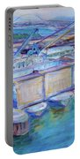 Swan Island Poetry - Large Original Contempory Impressionist Painting Portable Battery Charger