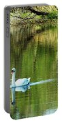 Swan On The Cong River Cong Ireland Portable Battery Charger