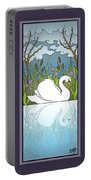 Swan On The River Portable Battery Charger