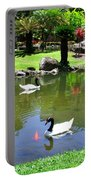 Swans And Gold Fish Portable Battery Charger