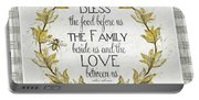 Sweet Life Farmhouse 4 Laurel Leaf Wreath Bee Bless This Food Portable Battery Charger