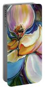 Sweet Magnoli Floral Abstract Portable Battery Charger