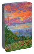 Sweet Pea Morning On The Blue Ridge Portable Battery Charger