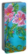 Sweet Pea Flowers On A Vine Portable Battery Charger