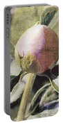Sweet Pink Peony Bud Portable Battery Charger