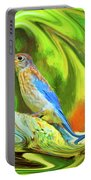 Swirling Bluebird Abstract Portable Battery Charger