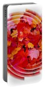 Swirling Colored Leaves Portable Battery Charger