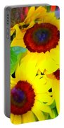 Swirling Sunflowers Portable Battery Charger