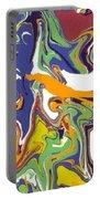 Swirls Drip Art Portable Battery Charger