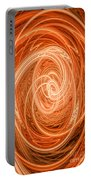 Swirls Of Orange Portable Battery Charger