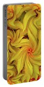 Swirly, Yellow Leaves Portable Battery Charger