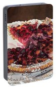 Swiss Custard Tart With Sour Cherries Portable Battery Charger