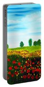Swiss Poppies Portable Battery Charger