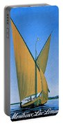 Switzerland, Lake Geneva, Montreux, Sailing Boat Portable Battery Charger