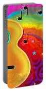 Sxsw Musical Guitar Fantasy Painting Print Portable Battery Charger