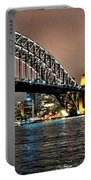 Sydney Harbor Bridge Night View Portable Battery Charger