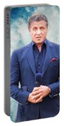 Sylvester Stallone Portrait Portable Battery Charger
