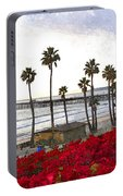 T-street View Of San Clemente Pier Portable Battery Charger