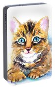 Tabby Kitten Watercolor Portable Battery Charger