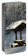 Table By Cross Country Ski Tracks Portable Battery Charger