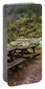 Tables By The River Portable Battery Charger by Carlos Caetano