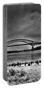 Tacony Palmyra Bridge In B And W Portable Battery Charger