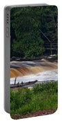 Tahquamenon Lower Falls Upper Peninsula Michigan 04 Portable Battery Charger