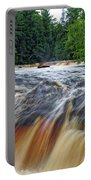 Tahquamenon Lower Falls Upper Peninsula Michigan Vertical 01 Portable Battery Charger