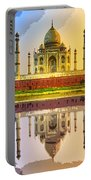 Taj Mahal At Sunrise Portable Battery Charger