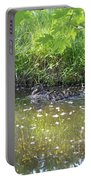Taking A Stroll With Mom Troughs Floral Reflections Portable Battery Charger