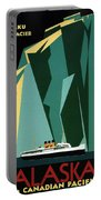 Taku Glacier - Alaska - Canadian Pacific Steamship - Retro Travel Poster - Vintage Poster Portable Battery Charger